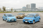 ホンダ フィット・トヨタ アクア・日産 ノートを徹底比較 -燃費性能に優れた売れ筋コンパクトカー-